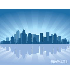 Charlotte north carolina skyline vector