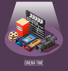 Cinema time background concept vector