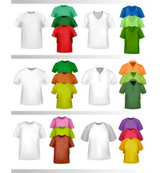 color tshirt design template vector image