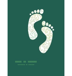 Curly doodle shapes footprints silhouettes vector