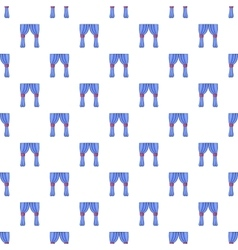 Curtains pattern cartoon style vector