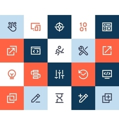Developer and programing icons flat style vector
