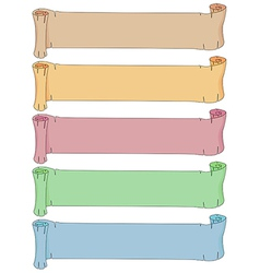 Empty scrolls vector image vector image