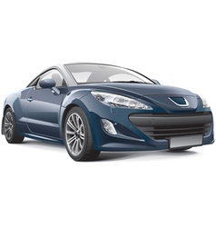 French compact sport car vector image vector image