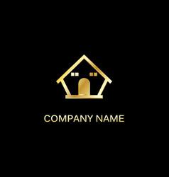 gold house company logo vector image