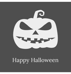 Halloween evil pumpkin silhouette vector image