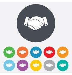 Handshake sign icon successful business symbol vector