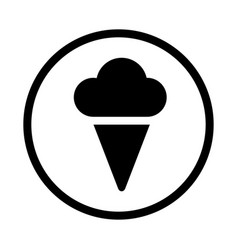 icecream icon - iconic design vector image