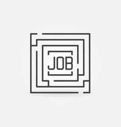 job maze icon vector image vector image