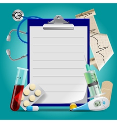 Medical template vector image