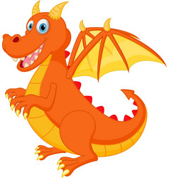 red dragon cartoon vector image vector image