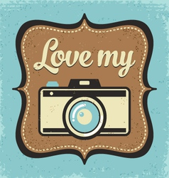 Retro camera poster vector image
