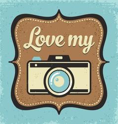 Retro camera poster vector