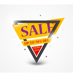 Sale Banner and Best Offer design vector image vector image