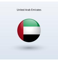 United arab emirates round flag vector