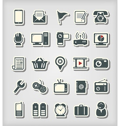 Universal icons paper cut style vector image vector image