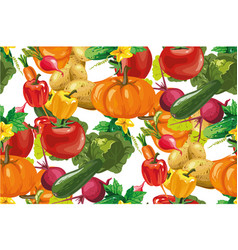 vegetables seamless pattern vegetables vector image
