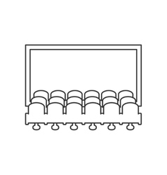 Cinema hall line icon vector