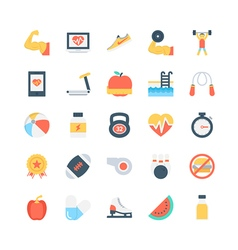 Fitness icons 1 vector