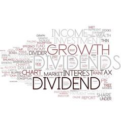 Dividends word cloud concept vector