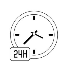 24 7 service icon image vector