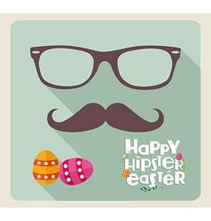Hipster easter design vector image