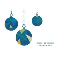 Abstract fabric triangles christmas ornaments vector