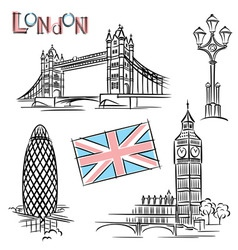 london landmark vector image