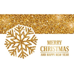 Christmas gold headline vector