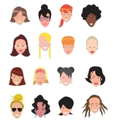 Women avatar icons vector