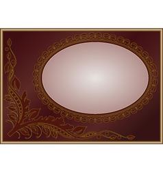 floral golden frame vector image