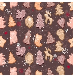 Seamless vintage dark brown pattern with vector