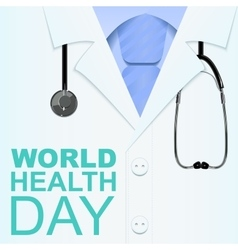 7 april world health day text for greeting card vector