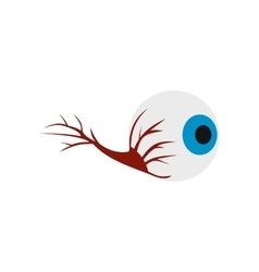 Eyeball icon flat vector