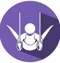 Sport icon with gymnastic athlete vector
