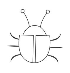Simple bug icon vector
