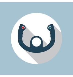 Aircraft Steering Helm Icon vector image