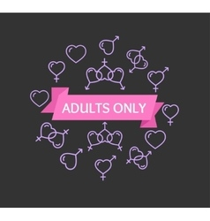 Adults only sign vector