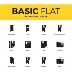 Basic set of bookmark icons vector