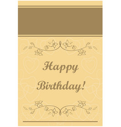 Beige greeting card - happy birthday vector