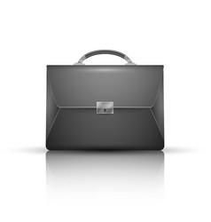 briefcase - business realistic icon vector image