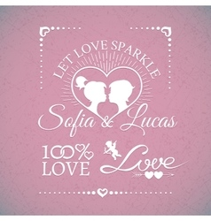 Bright wedding or Valentines Day design elements vector image vector image
