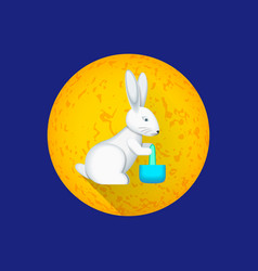 Chinese moon rabbit vector