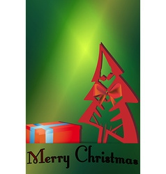 Christmas tree gift cards vector image