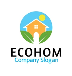 Eco hom design vector