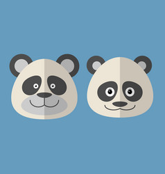 Faces of panda vector