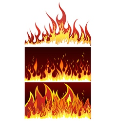 fire backgr set vector image vector image