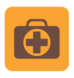 first aid kit symbol and medical services icon vector image