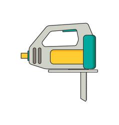 fretsaw flat vector image