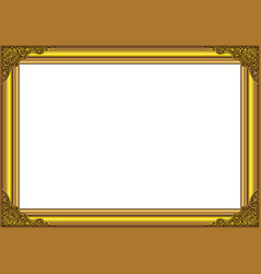 gold wood frame vector image